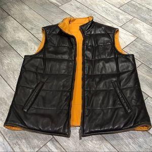 Paul & Shark leather reversible vest size XXL
